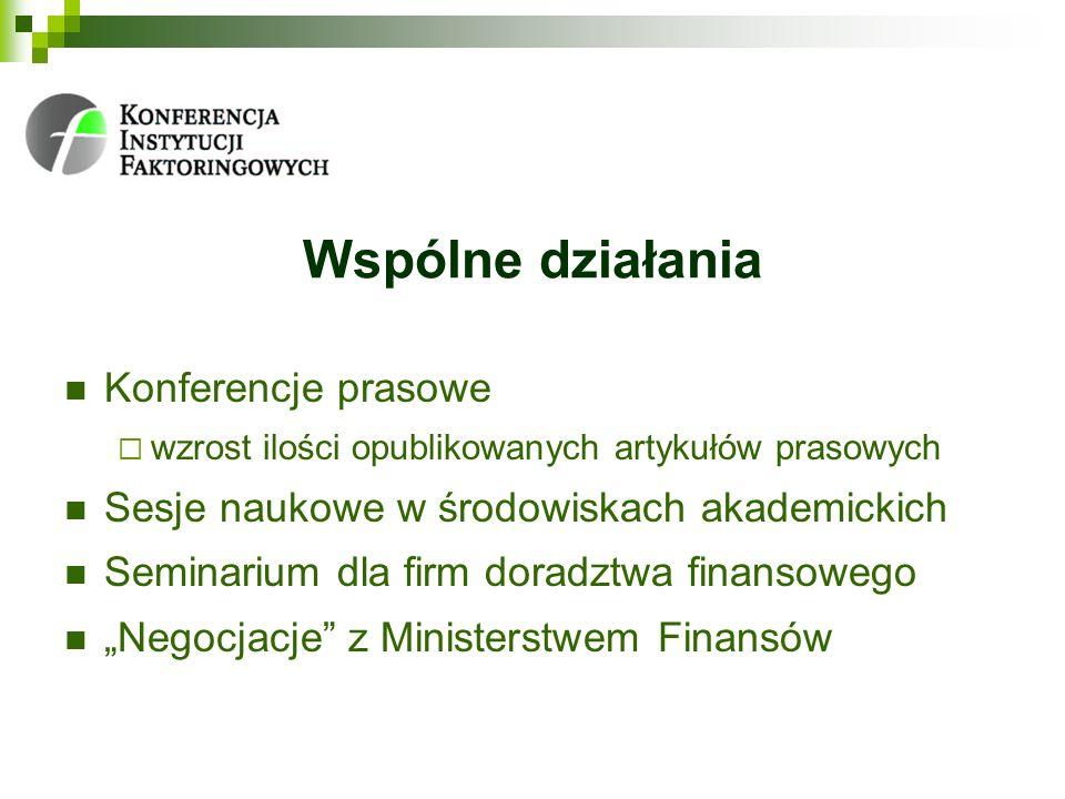 Wspólne działania Konferencje prasowe
