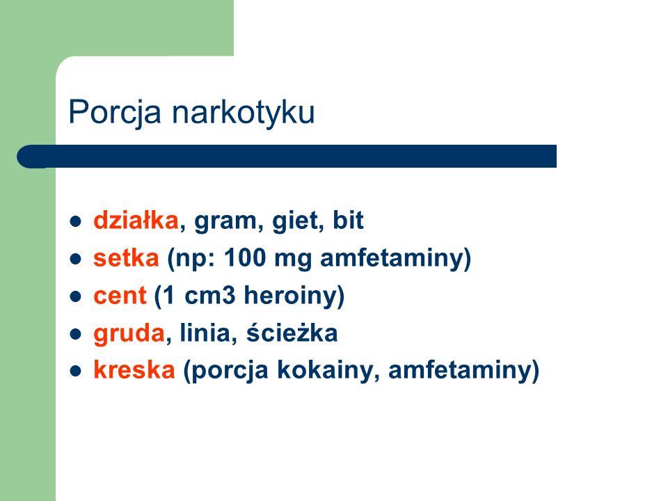 Porcja narkotyku działka, gram, giet, bit