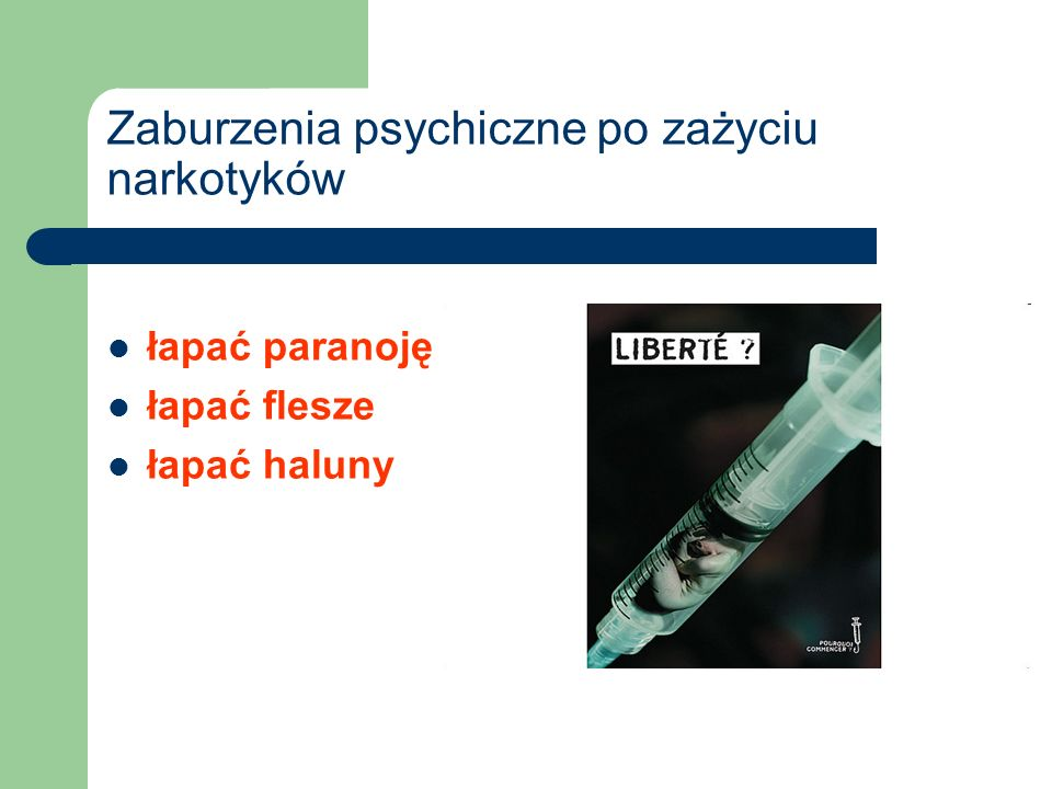 Zaburzenia psychiczne po zażyciu narkotyków