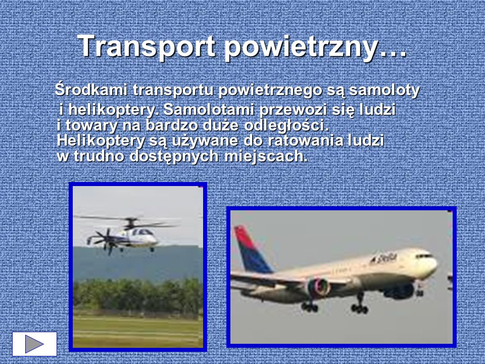 Transport powietrzny…