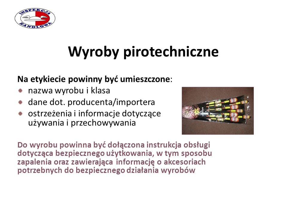 Wyroby pirotechniczne