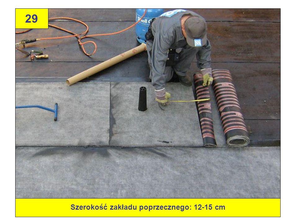 Szerokość zakładu poprzecznego: 12-15 cm