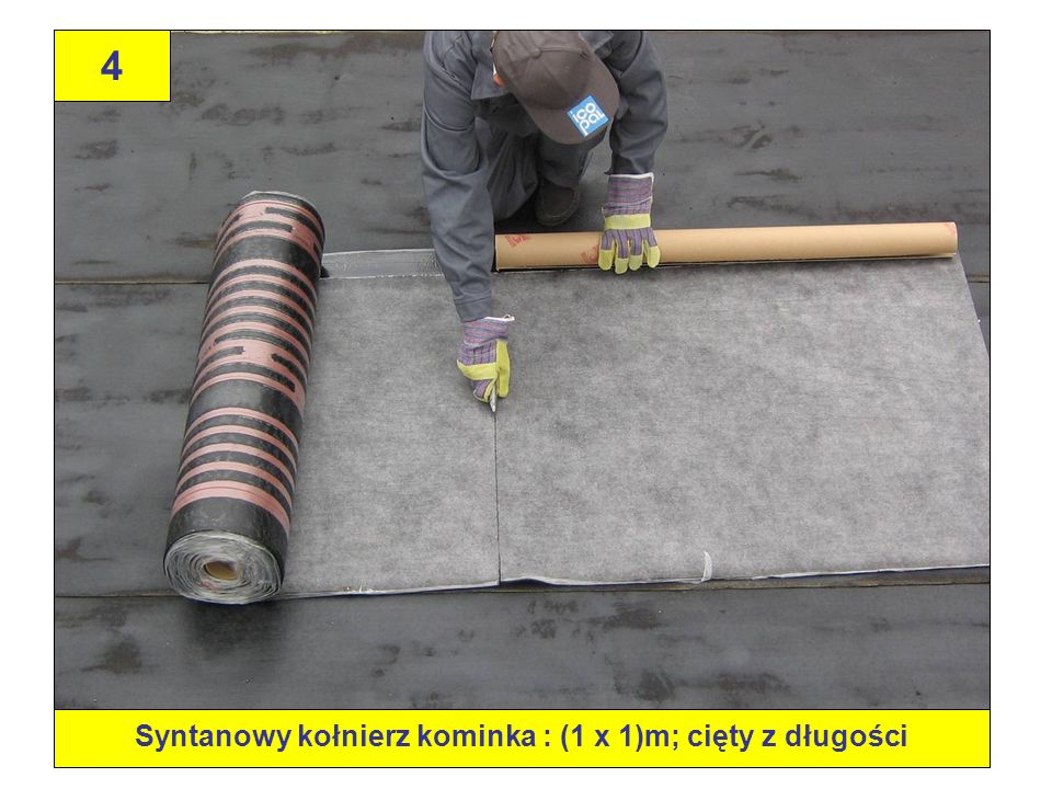 Syntanowy kołnierz kominka : (1 x 1)m; cięty z długości