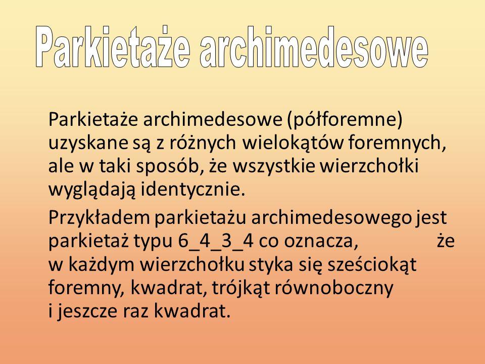 Parkietaże archimedesowe