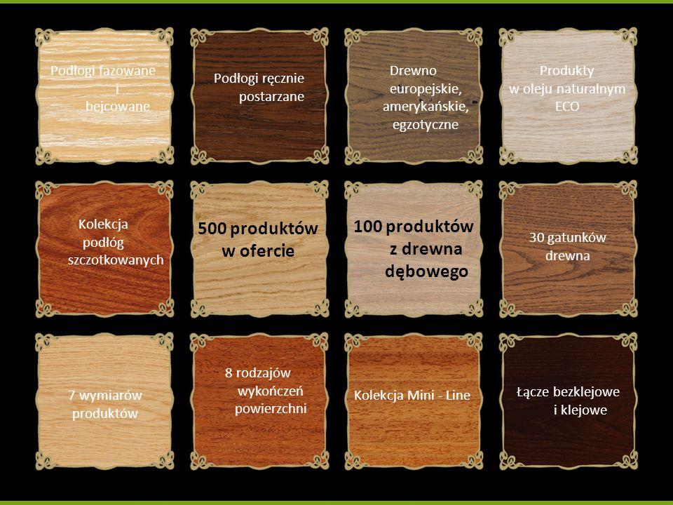 100 produktów z drewna dębowego