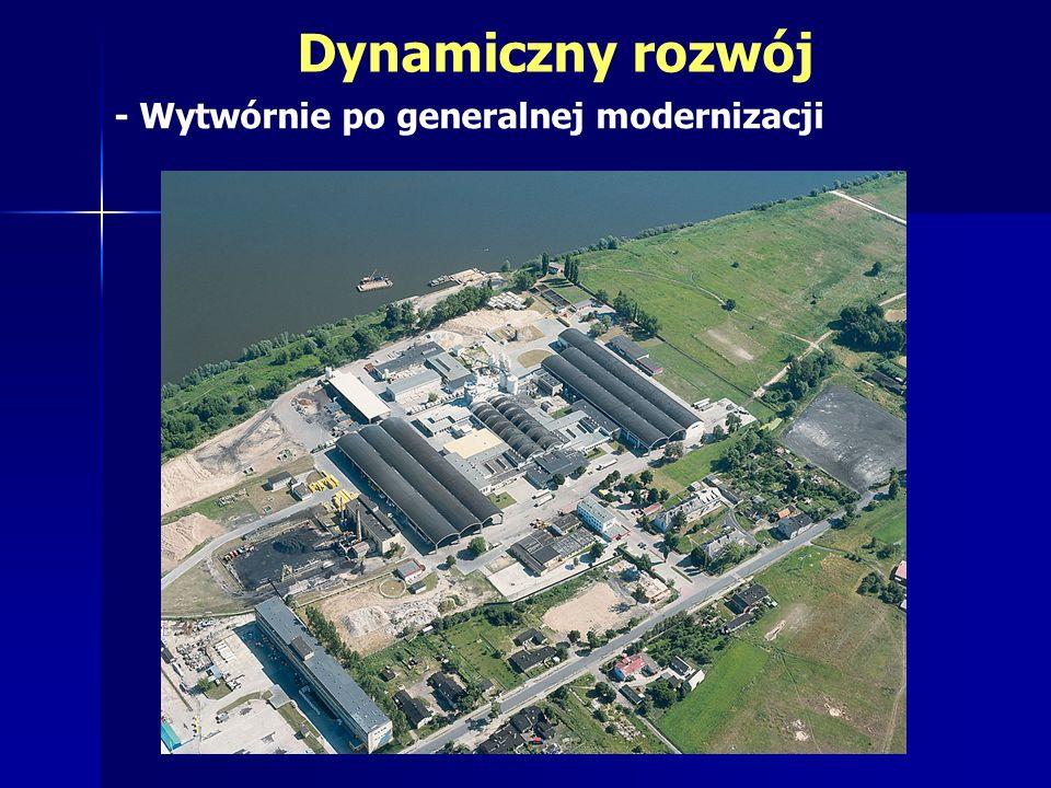 Dynamiczny rozwój - Wytwórnie po generalnej modernizacji