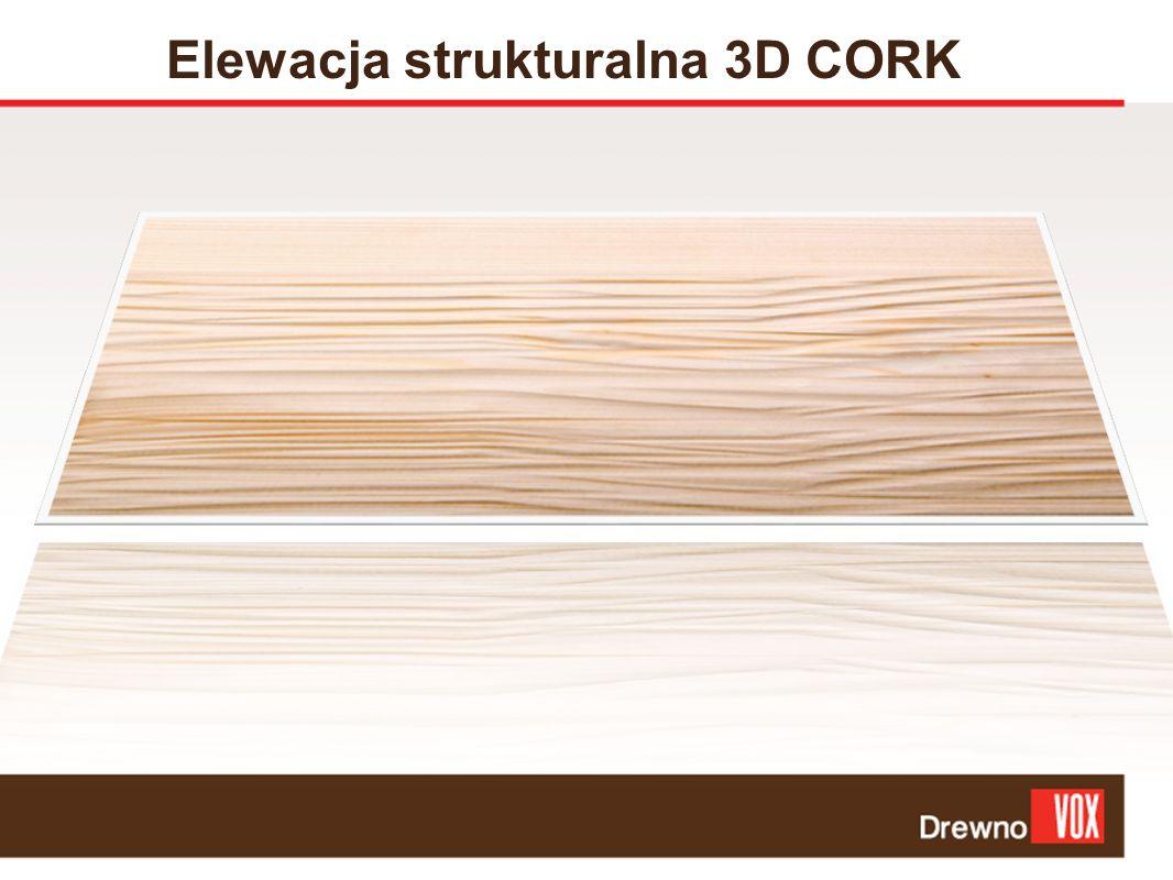 Elewacja strukturalna 3D CORK