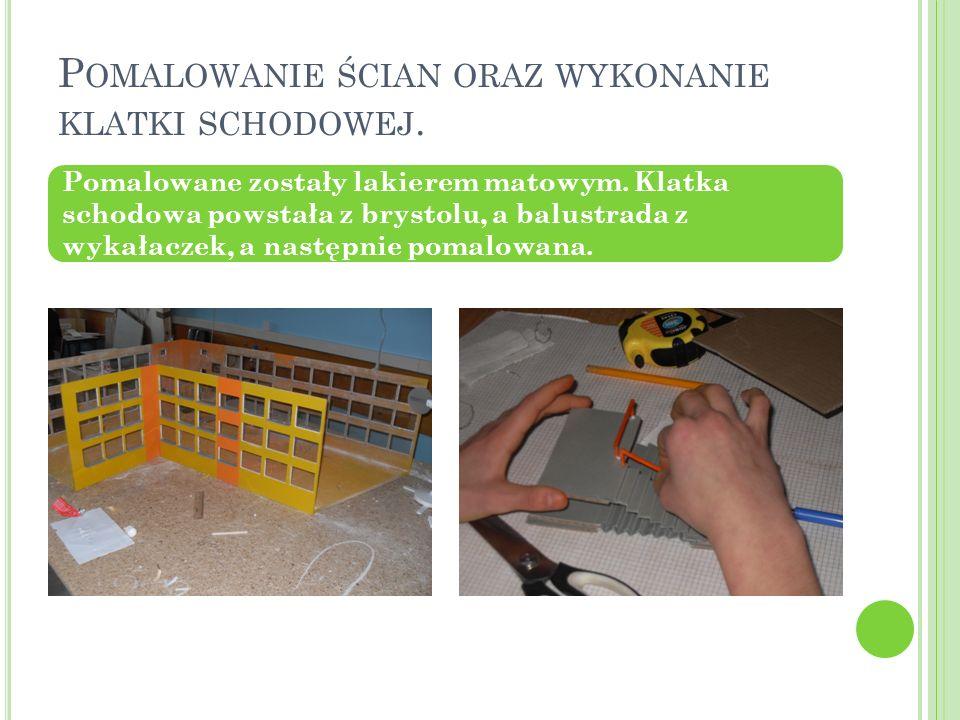 Pomalowanie ścian oraz wykonanie klatki schodowej.