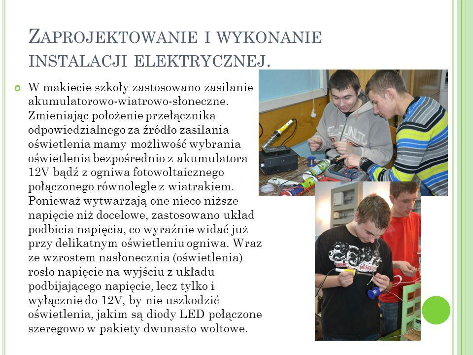 Zaprojektowanie i wykonanie instalacji elektrycznej.