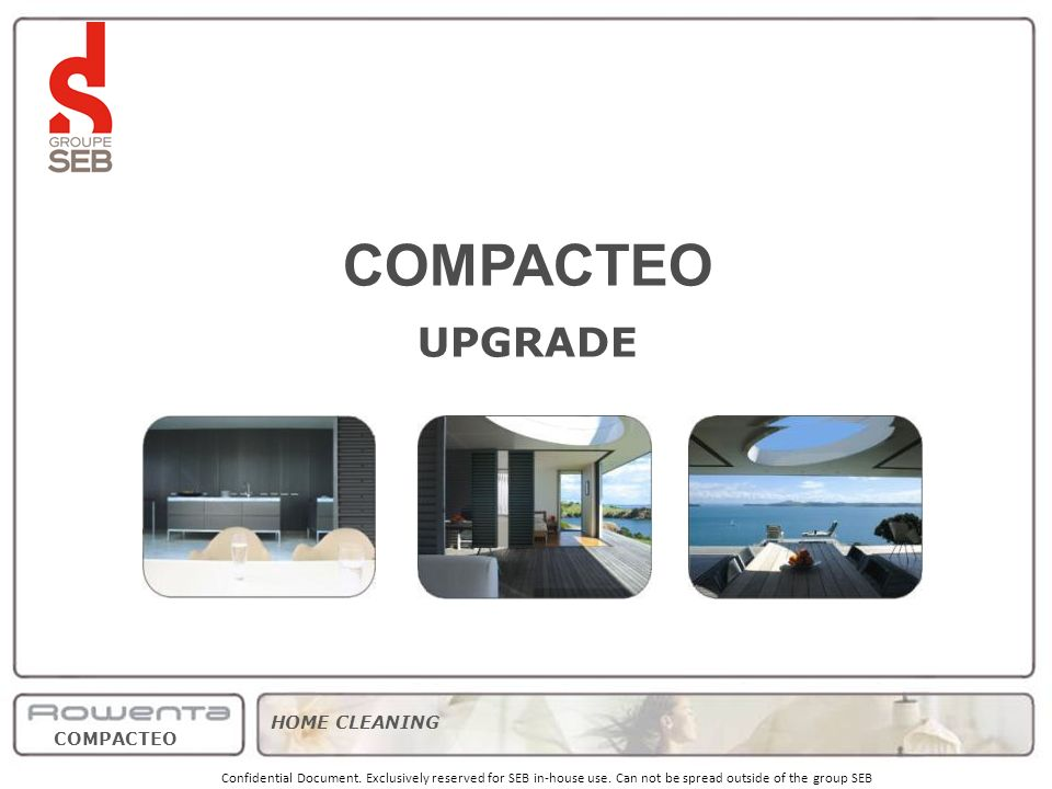 COMPACTEO UPGRADE strategy product range pricing/volumes timing