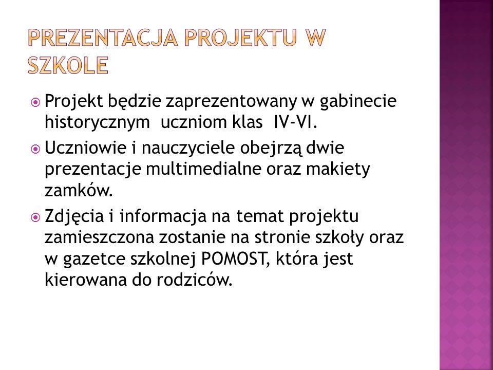 Prezentacja projektu w szkole
