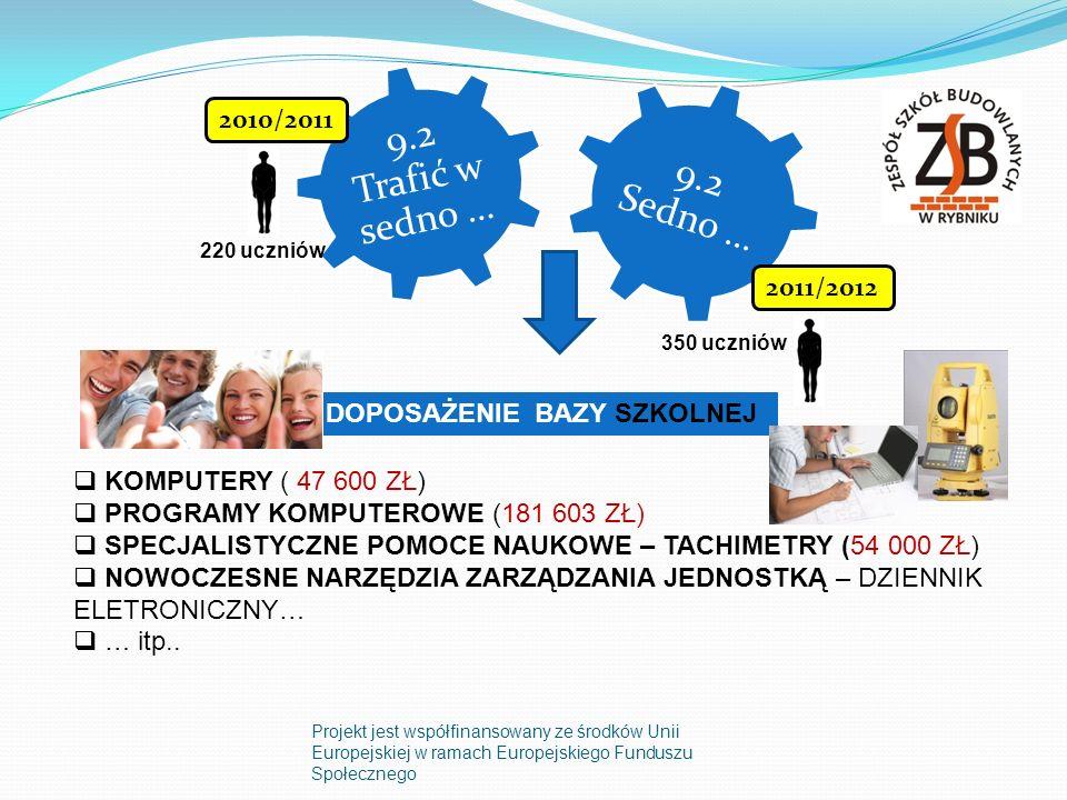 9.2 Trafić w sedno … 9.2 Sedno … 2010/2011 2011/2012