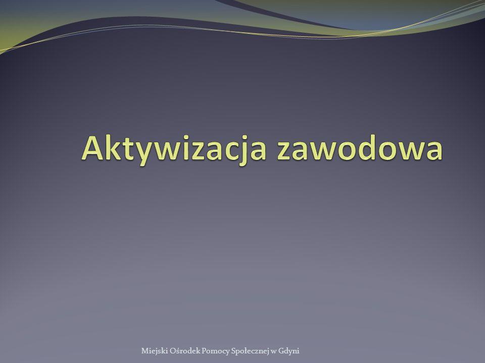 Aktywizacja zawodowa Miejski Ośrodek Pomocy Społecznej w Gdyni