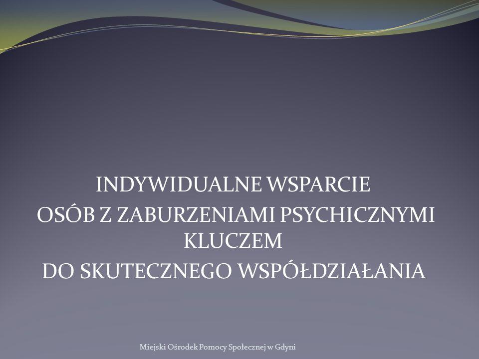 INDYWIDUALNE WSPARCIE OSÓB Z ZABURZENIAMI PSYCHICZNYMI KLUCZEM