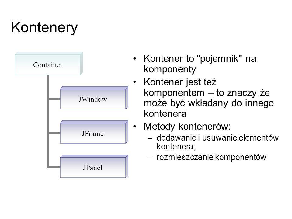 Kontenery Kontener to pojemnik na komponenty