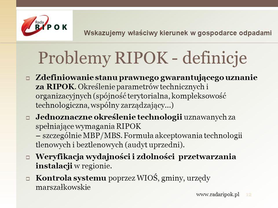 Problemy RIPOK - definicje
