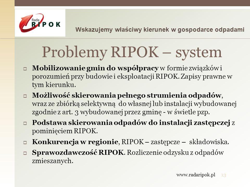 Problemy RIPOK – system
