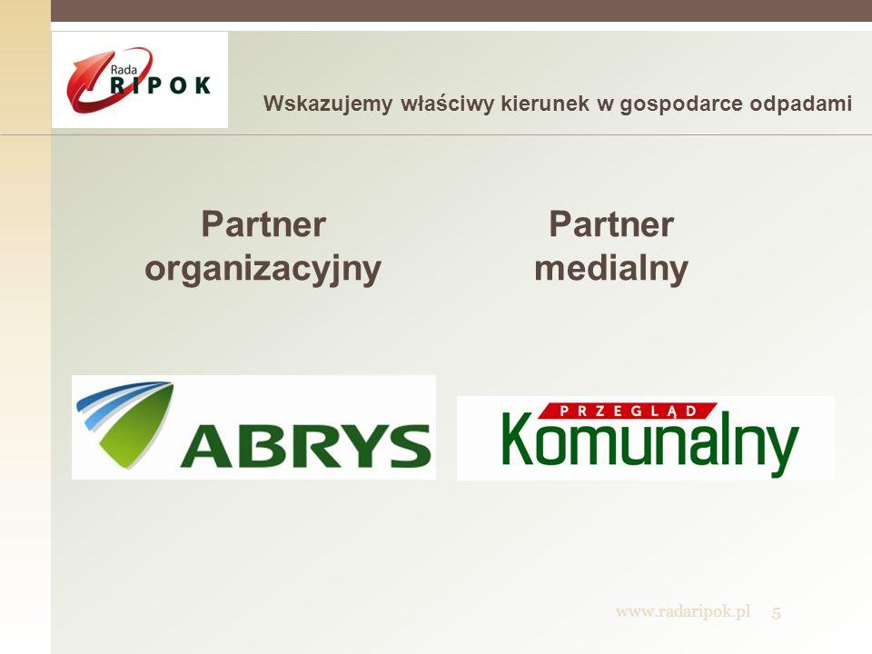 Partner organizacyjny Partner medialny