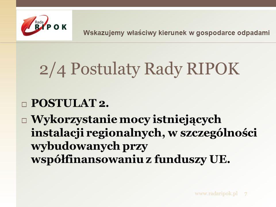 2/4 Postulaty Rady RIPOK POSTULAT 2.