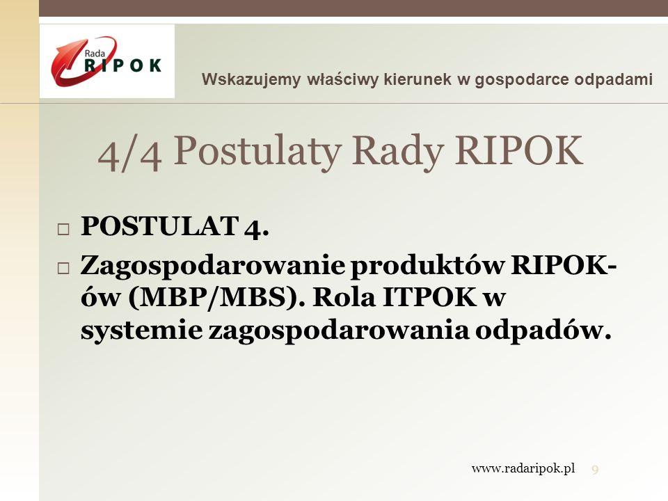 4/4 Postulaty Rady RIPOK POSTULAT 4.