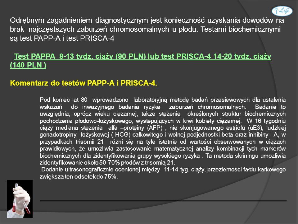 Komentarz do testów PAPP-A i PRISCA-4.