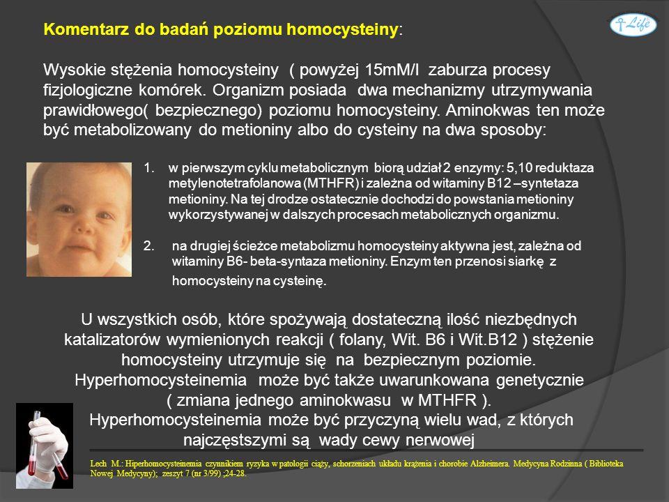 Komentarz do badań poziomu homocysteiny: