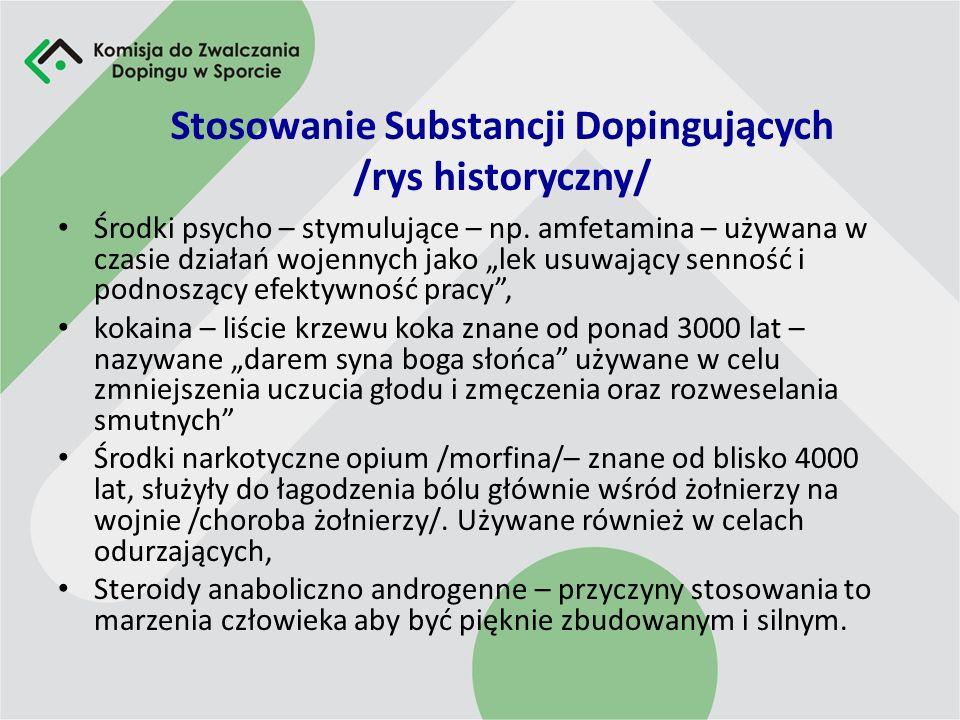 Stosowanie Substancji Dopingujących /rys historyczny/