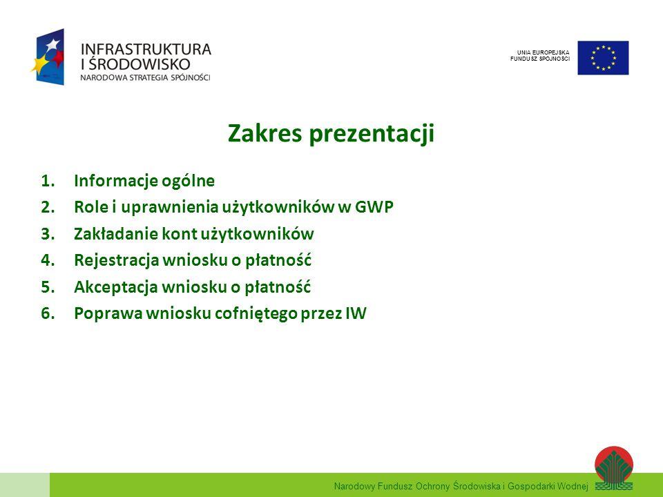 Zakres prezentacji Informacje ogólne