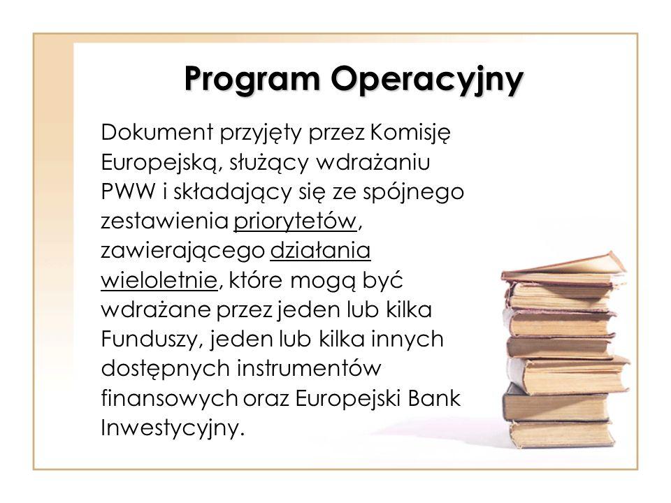 Program Operacyjny Dokument przyjęty przez Komisję