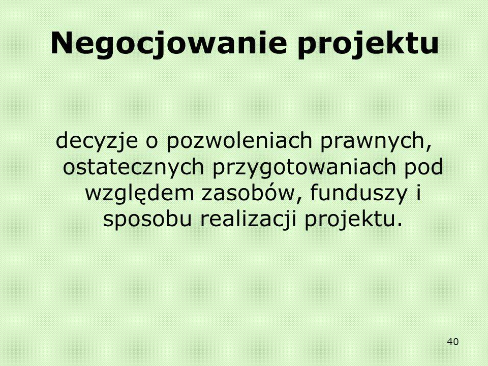 Negocjowanie projektu