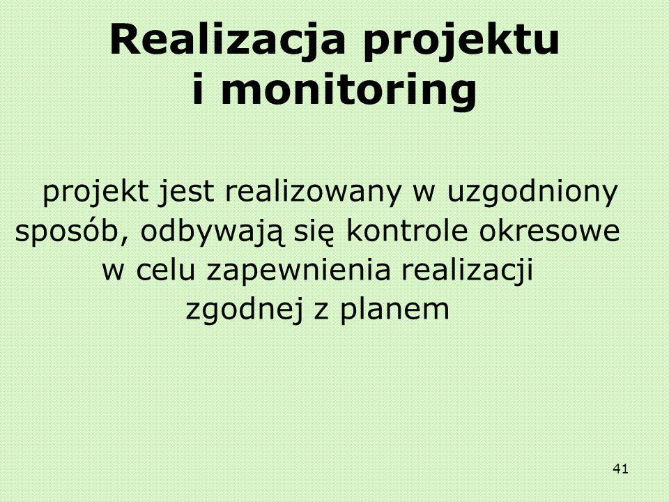 Realizacja projektu i monitoring