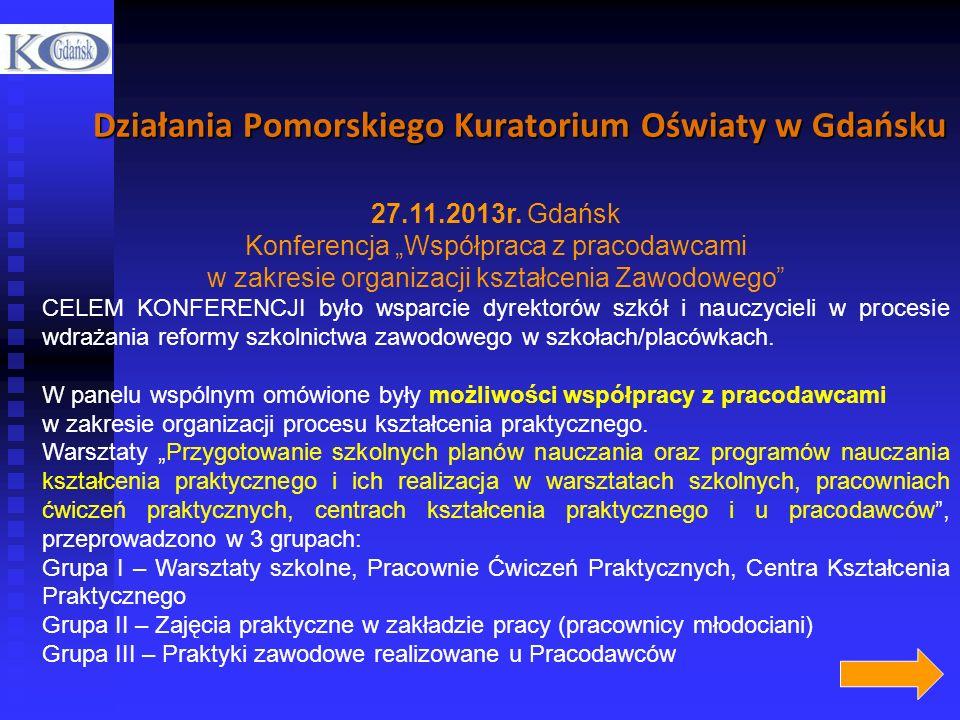 Działania Pomorskiego Kuratorium Oświaty w Gdańsku