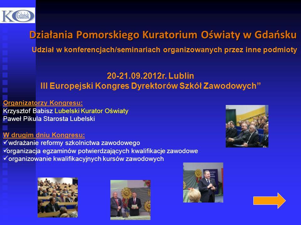 III Europejski Kongres Dyrektorów Szkół Zawodowych