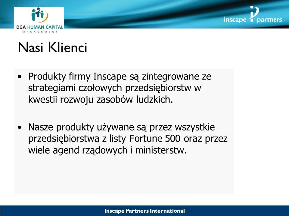 Nasi Klienci Produkty firmy Inscape są zintegrowane ze strategiami czołowych przedsiębiorstw w kwestii rozwoju zasobów ludzkich.