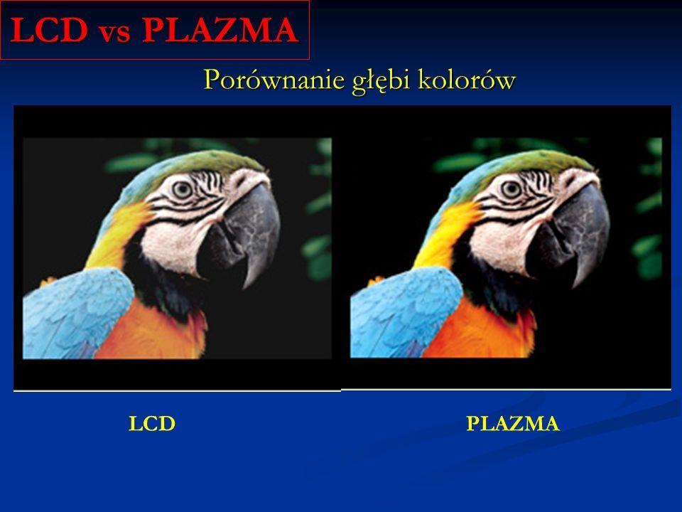 LCD vs PLAZMA Porównanie głębi kolorów LCD PLAZMA