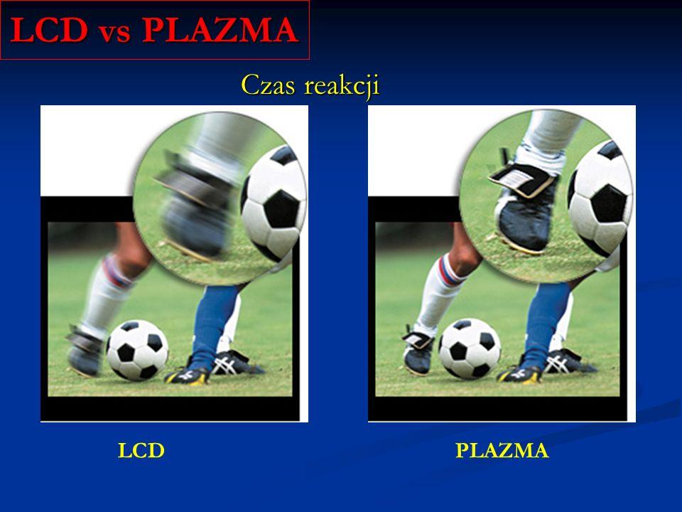 LCD vs PLAZMA Czas reakcji LCD PLAZMA