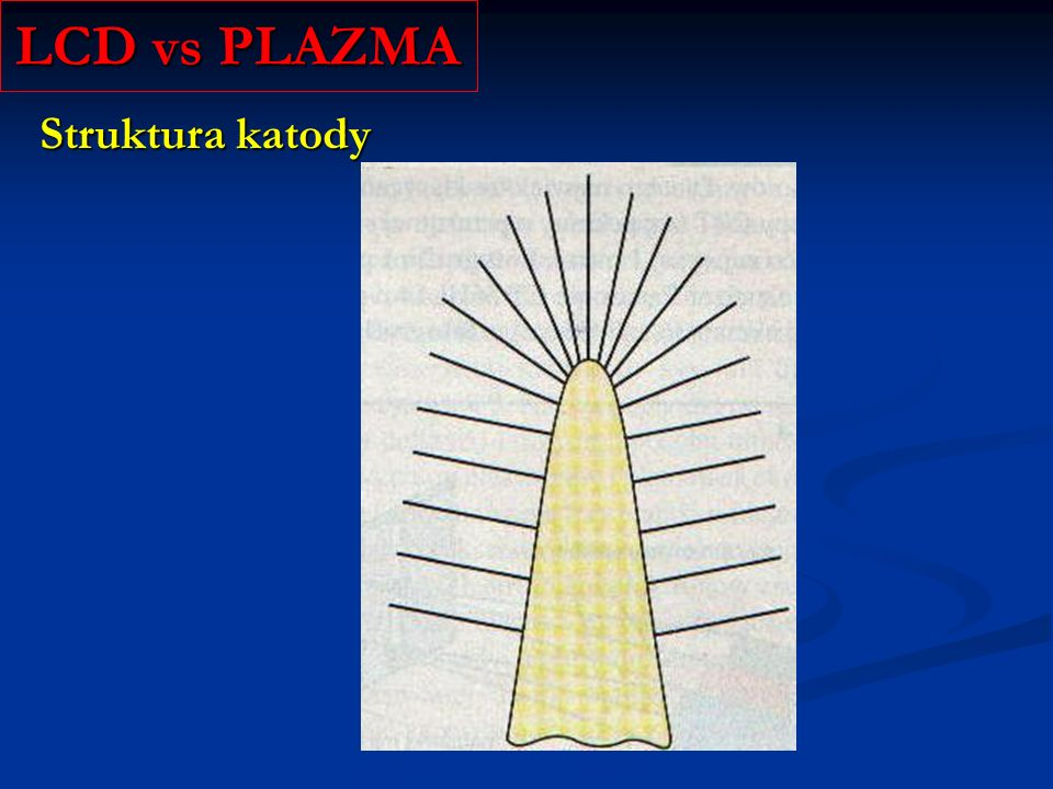LCD vs PLAZMA Struktura katody