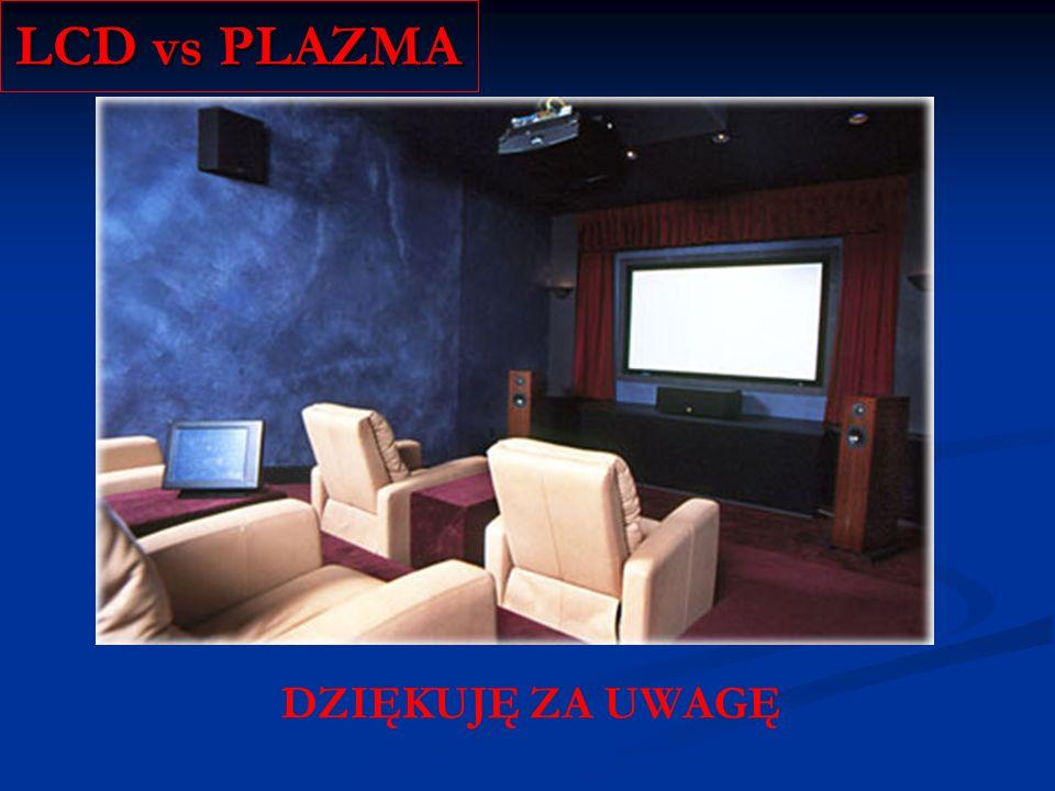 LCD vs PLAZMA DZIĘKUJĘ ZA UWAGĘ