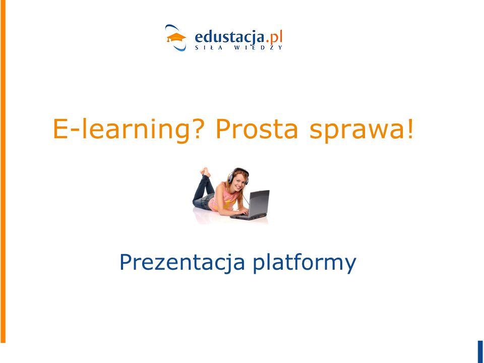 E-learning Prosta sprawa!