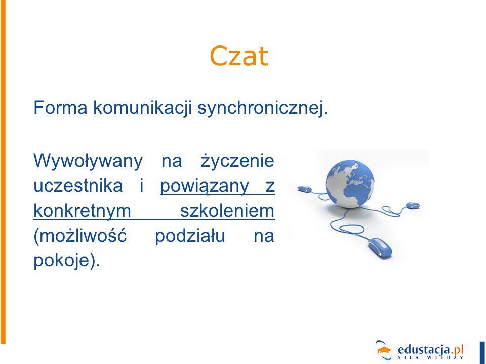Czat Forma komunikacji synchronicznej.