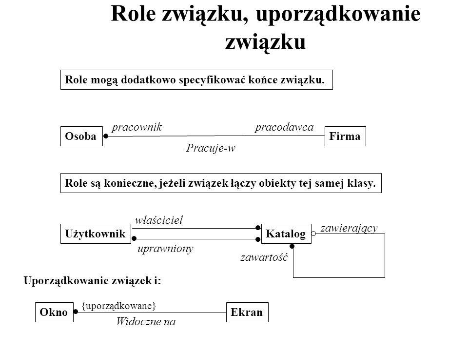 Role związku, uporządkowanie związku