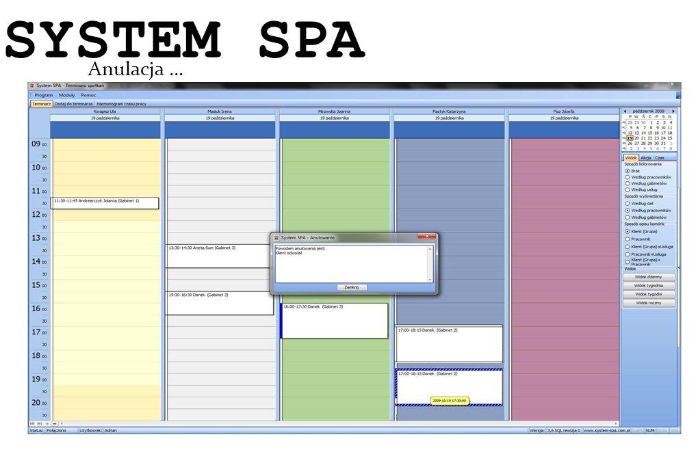 SYSTEM SPA System SPA Anulacja … 14