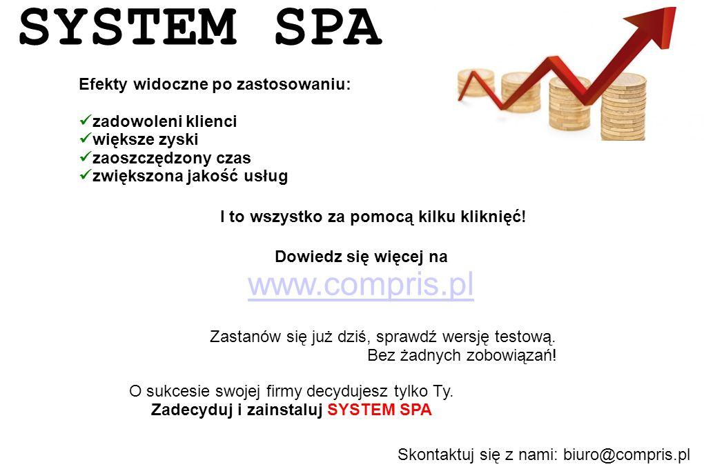 Zadecyduj i zainstaluj SYSTEM SPA