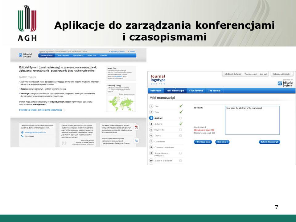 Aplikacje do zarządzania konferencjami i czasopismami