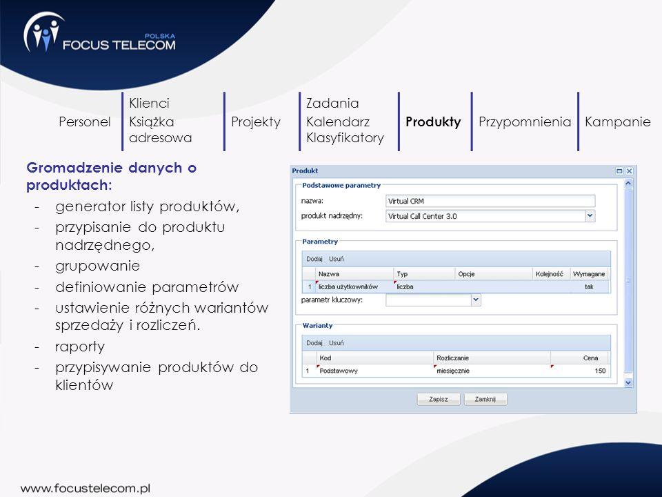 Gromadzenie danych o produktach: generator listy produktów,