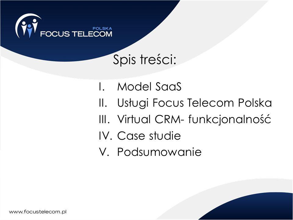Spis treści: Model SaaS Usługi Focus Telecom Polska