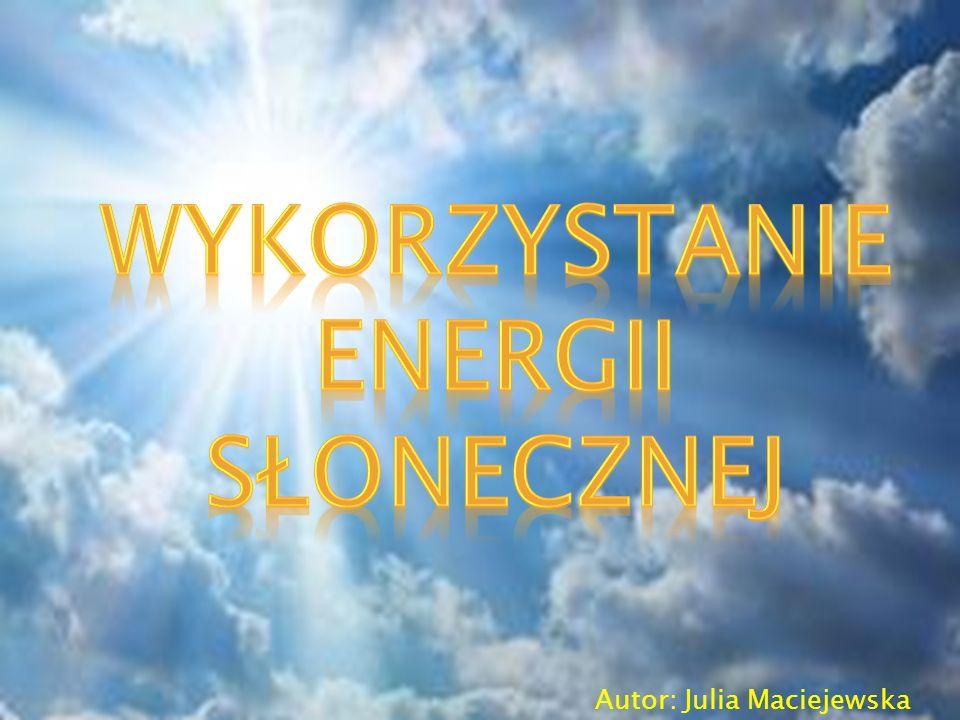WYKORZYSTANIE ENERGII
