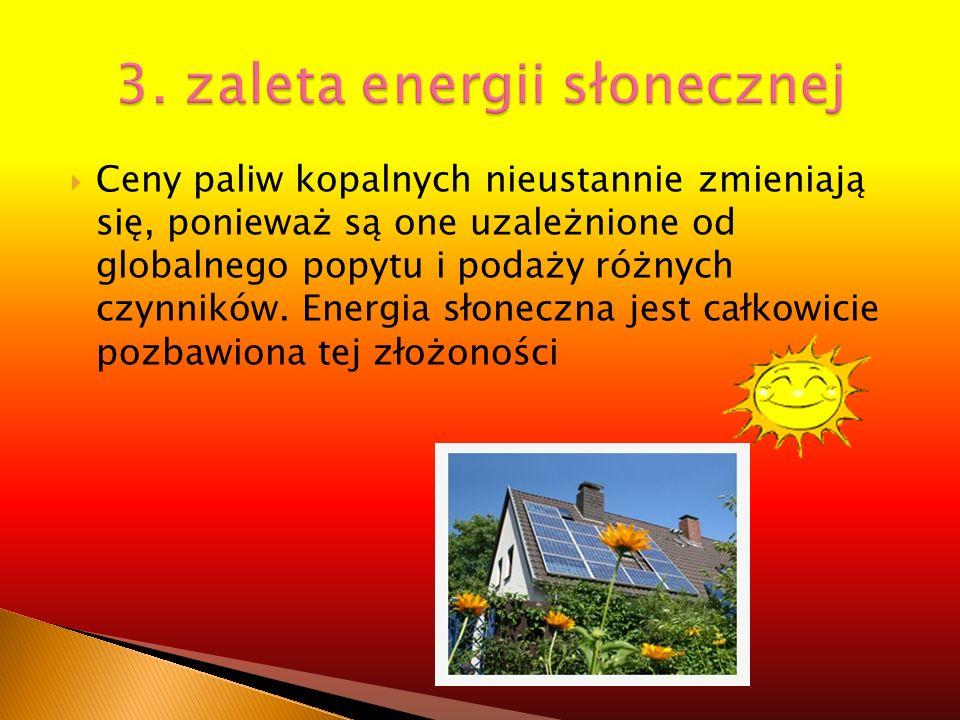3. zaleta energii słonecznej