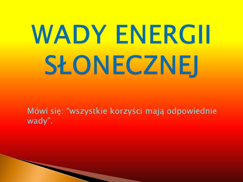 WADY ENERGII SŁONECZNEJ