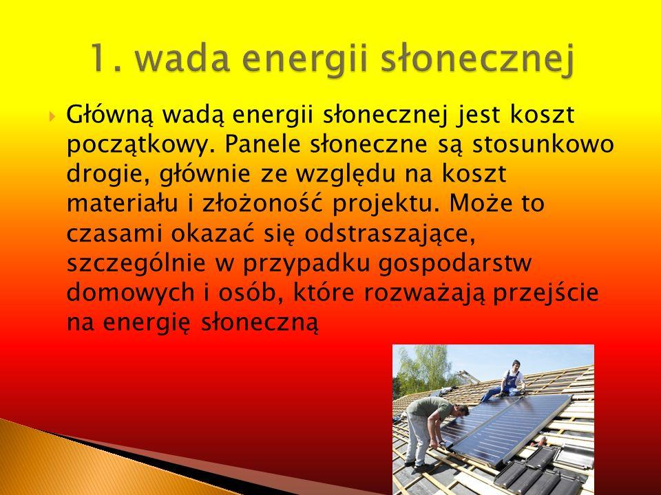 1. wada energii słonecznej